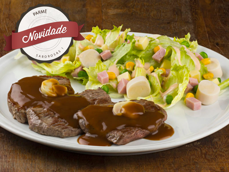 Escalope de Carne com Salada