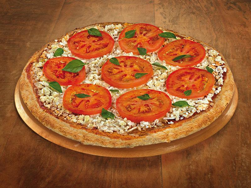 Pizza Integral de Margherita com Queijo Minas